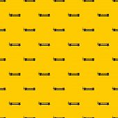 Blacksmiths Clamp Pattern Seamless Repeat Geometric Yellow For Any Design poster