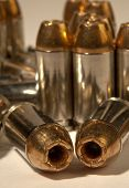 foto of hollow point  - Close up photo of Hollow point 40 cal bullets - JPG