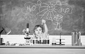 Discover Liquids. Study Grants And Scholarship. Boy Performing Chemistry Test. Wunderkind And Early  poster