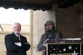 LOS ANGELES - MAR 16:  Malcolm McDowell, Rob Zombie  at the Malcolm McDowell Walk of Fame Star Cerem