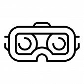 Smartphone Vr Goggles Icon. Outline Smartphone Vr Goggles Icon For Web Design Isolated On White Back poster