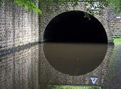 Fallingroyd Tunnel On The Rochdale Canal In Hebden Bridge Built To Carry The Canal Under The A58 Roa poster