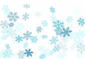 Snow Flakes Falling Macro Vector Design, Christmas Snowflakes Confetti Falling Scatter Backdrop. Win poster