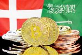 Concept For Investors In Cryptocurrency And Blockchain Technology In The Denmark And Saudi Arabia. B poster
