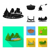 Vector Illustration Of Tourism And Excursions Icon. Collection Of Tourism And Rest Vector Icon For S poster
