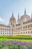 A Landscape View Of Budapest City, The Hungarian Parliament Building - One Of The Most Beautiful Bui poster