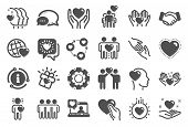 Friendship And Love Icons. Interaction, Mutual Understanding And Assistance Business. Trust Handshak poster