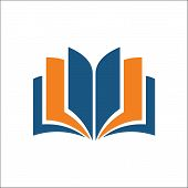 Open Book Icon. Simple Illustration Of Open Book Vector Icon For Web - Education Icon poster
