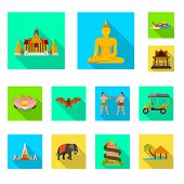 Vector Design Of Journey And Exotic Logo. Set Of Journey And National Stock Symbol For Web. poster