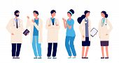 Doctors Team. Medical Staff Doctor Nurse Therapist Surgeon Professional Hospital Workers, Group Of M poster