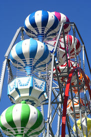 picture of carnival ride  - big wheel details - JPG