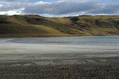 pic of pampa  - Lake in the pampas of Patagonia - JPG