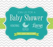 stock photo of chevron  - Baby Shower Invitation - JPG