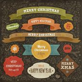 Set of Christmas design elements for Xmas art