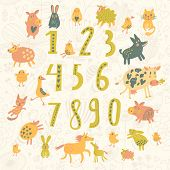stock photo of numbers counting  - Learn to count - JPG