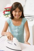 Young Girl Ironing