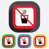 No Hot water sign icon. Hot drink symbol.