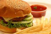 foto of veggie burger  - A veggie burger is a hamburger - JPG
