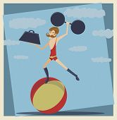 picture of strongman  - Illustration of a strongman with a mustache and weights - JPG