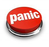 foto of panic  - A red button with the word Panic on it - JPG