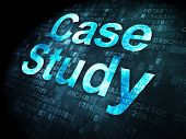 Education concept: Case Study on digital background