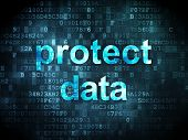 Safety concept: Protect Data on digital background