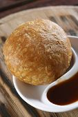 picture of urad  - Kachori or Kachauri is usually a round flattened ball made of fine flour filled with a stuffing of baked mixture of yellow moong dal or Urad Dal the crushed and washed horse beans besan the crushed and washed gram flour black pepper red chili powder salt - JPG