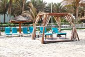 Hut On The Beach Of Luxury Hotel, Ajman, Uae