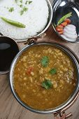 pic of tadka  - Mixed dal made of boiled lentils cooked with fresh Indian spices and vegetables - JPG
