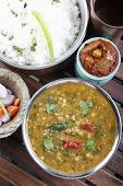 pic of ghee  - Palak tuvar dal made of tuvvar dal cooked with spinach - JPG