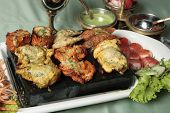 pic of kababs  - Mixed Kebab refers to a variety of meat dishes in Indian and South Asian cuisines - JPG