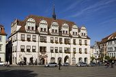 The Town Hall On The Market Square In Naumburg; Saxony-anhalt, Germany
