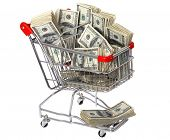 Shopping Cart Full of Cash