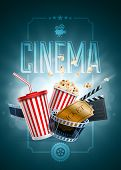 picture of clapper board  - Popcorn box - JPG
