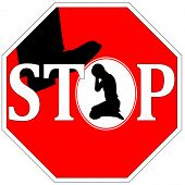 pic of ban  - Concept sign to ban any kind of violence against girls and women - JPG