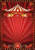 stock photo of school carnival  - Fun red circus poster - JPG
