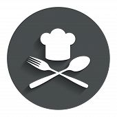 stock photo of chef cap  - Chef hat sign icon - JPG