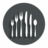 stock photo of knife  - Dessert fork - JPG