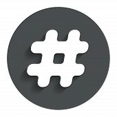 stock photo of hashtag  - Hashtag sign icon - JPG
