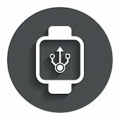 image of wrist  - Smart watch sign icon - JPG