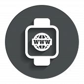 picture of wrist  - Smart watch sign icon - JPG