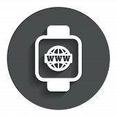 foto of watch  - Smart watch sign icon - JPG