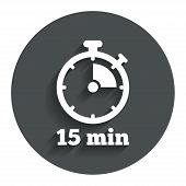 foto of stopwatch  - Timer sign icon - JPG