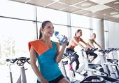 stock photo of exercise bike  - sport - JPG