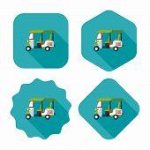image of rickshaw  - Three Wheeled Motor Rickshaw - JPG