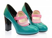 picture of pink shoes  - Baby shoes on mom - JPG