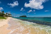 pic of samoa  - Wave crashing on tropical beach in Western Samoa - JPG