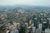 foto of petronas twin towers  - Beautiful Scenery of Kuala Lumpur in Malaysia - JPG