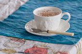 picture of cardamom  - Traditional cappuccino with cardamom and cinnamon spices - JPG