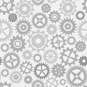 picture of mechanical engineer  - Gear wheels seamless pattern - JPG